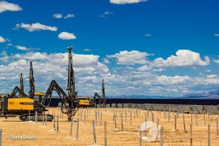 Trimble machine drilling